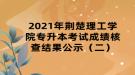 2021年荆楚理工学院专升本考试成绩核查结果公示(二)