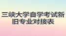 三峡大学自学考试新旧专业对接表