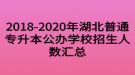 2018-2020年湖北普通专升本公办学校招生人数汇总