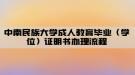 中南民族大学成人教育毕业(学位)证明书办理流程