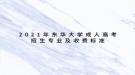 2021年东华大学成人高考招生专业及收费标准