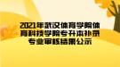 2021年武汉体育学院体育科技学院专升本补录专业审核结果公示