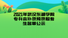 2021年武汉东湖学院专升本补录预录取考生名单公示