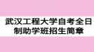 2020年武汉工程大学自考全日制助学班招生简章