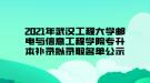 2021年武汉工程大学邮电与信息工程学院专升本补录拟录取名单公示