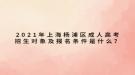 2021年上海杨浦区成人高考招生对象及报名条件是什么?