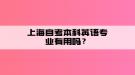 上海自考本科英语专业有用吗?