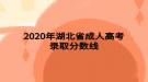 2020年湖北省成人高考录取分数线
