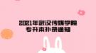 2021年武汉传媒学院专升本补录通知