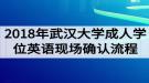 2018年武汉大学成人学位英语考试现场确认流程