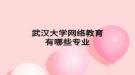 武汉大学网络教育有哪些专业