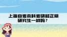 上海自考本科考研和正常研究生一样吗?