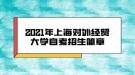 2021年上海对外经贸大学自考招生简章