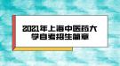 2021年上海中医药大学自考招生简章