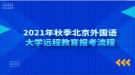 2021年秋季北京外国语大学远程教育报考流程