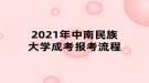 2021年中南民族大学成考报考流程