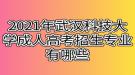 2021年武汉科技大学成人高考招生专业有哪些