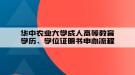 华中农业大学成人高等教育学历、学位证明书申办流程