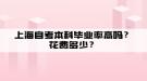 上海自考本科毕业率高吗?花费多少?