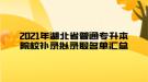 2021年湖北省普通专升本院校补录拟录取名单汇总