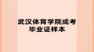 武汉体育学院成考毕业证样本