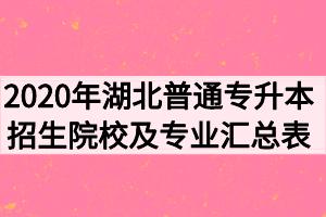 2020年湖北普通专升本招生院校及招生专业计划汇总表