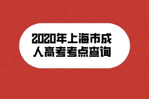 2020年上海市成人高考考点查询