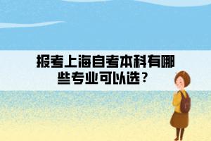 报考上海自考本科有哪些专业可以选?