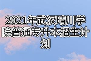2021年武汉晴川学院普通专升本招生计划