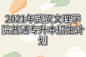 2021年武汉文理学院普通专升本招生计划