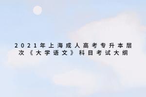 2021年上海成人高考专升本层次《大学语文》科目考试大纲