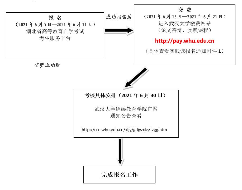 武大自考实践课报名流程图