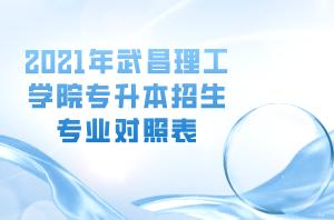 2021年武昌理工学院专升本招生专业对照表
