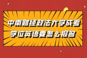 中南财经政法大学成考学位英语要怎么报名