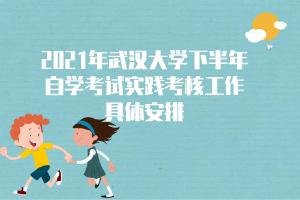 2021年武汉大学下半年自学考试实践考核工作具体安排