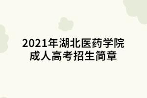 2021年湖北医药学院成人高考招生简章 (1)